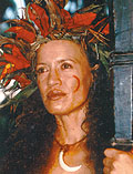 Rena Owen plays the mythological Warrior Woman in the movie